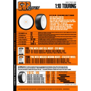 GRP tires 1:10TC S32 indoor