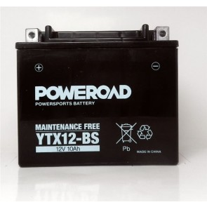 Motorcycle battery - Maintainance Free, YTX12-BS 12V 10 Ah