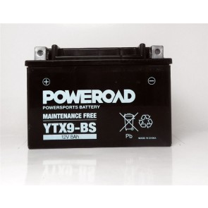 Motorcycle battery - Maintainance Free, YTX9-BS 12V 8 Ah