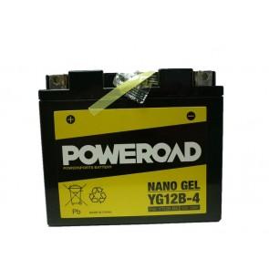Motorcycle battery POWEROAD YG12B-4 GEL
