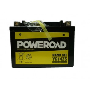 Motorcycle battery POWEROAD YG14ZS