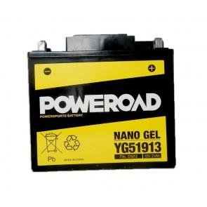 Motorcycle battery POWEROAD YG51913 GEL