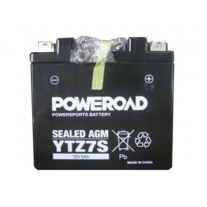 Motorcycle battery - Hermetic,YTZ7S Poweroad 12V 6Ah