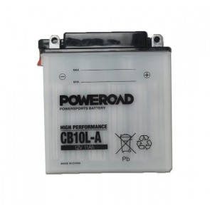 Motorcycle battery - Regular, CB10L-A POWEROAD 12V 11 Ah