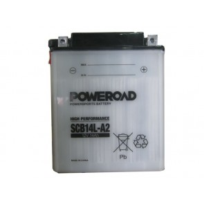 Motorcycle battery - Regular SCB14L-A2 Poweroad, 12V 14Ah
