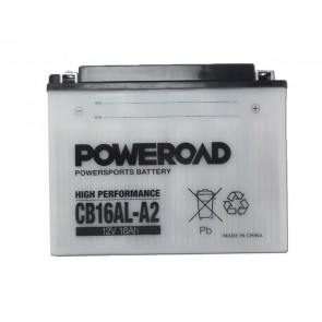 Motorcycle battery - Regular, CB16AL-A2 POWEROAD 12V 16 Ah