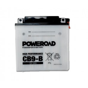 Motorcycle battery - Regular, CB9-B POWEROAD 12V 9 Ah
