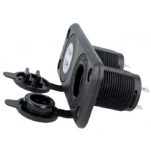 automotive socket with cover USB A socket x2, car lighter socket x1