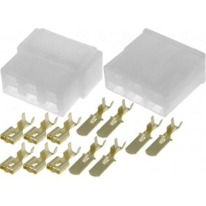 KIT connectors male + female 6 pole