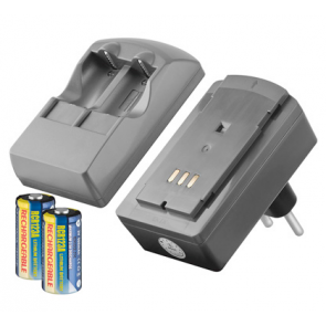 Charger for lithium CR123 batteries + 2 batteries