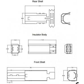 USB-B konektor za kabel