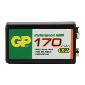 9V 170 mAh Ni-Mh rechargeable GP battery