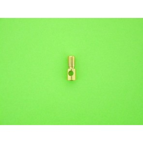 Gold-plated connector 5.5mm male