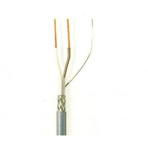 Grey LiYCY cable for data transmission 2x0.14
