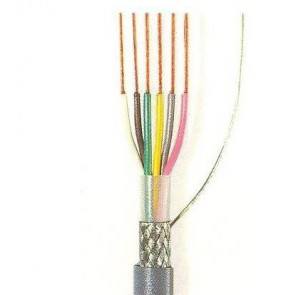 Grey LiYCY cable for data transmission 6x0.14