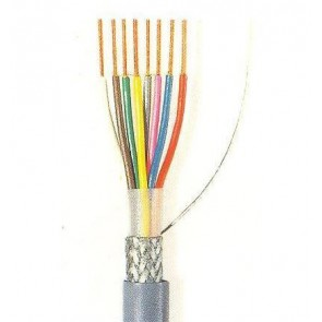 Grey LiYCY cable for data transmission 8x0.14