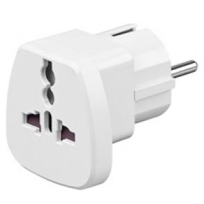 Adapter socket for appliances UK = Europe