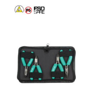 4Pc Ergonomic ESD Safe Plier And Cutter Kit PK-ST902