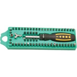 62 PCS Ratchet Screwdriver Set W/Bits