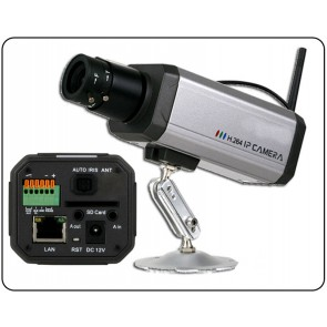 Wireless network indoor camera with SD card recorder VS-IP002