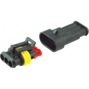 AMP 3 pole waterproof connector IP67