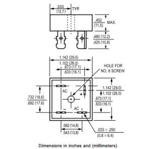 Bridge rectifier KBPC2508W