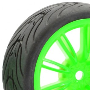 Touring car wheel and tire