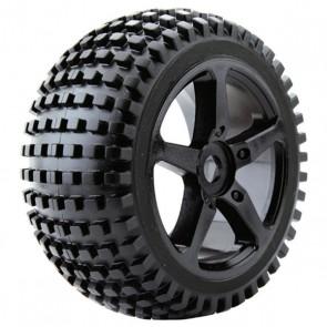 Fastrax 1:8 truggy rock MTD on 5-spoke black 0 offset