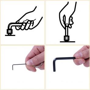 8Pcs Ring Type Hex Key Set (1.5,2,2.5,3,4,5,5.5,6mm)