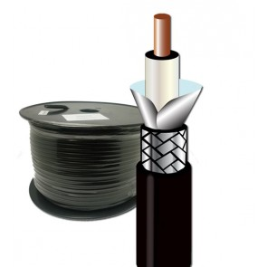 RG Coaxial shielded plaited cable (75R) - 100 Meter Roll Price