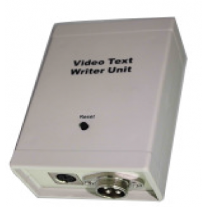 Text writer & Keyboard for video text overlay - pipeline inspection cam system