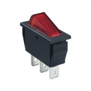 Built-in 2 position switch (red)