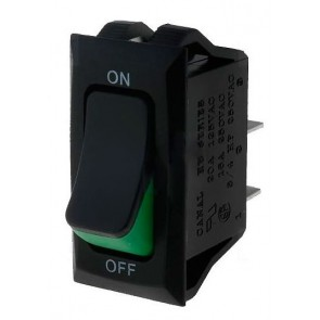 Built-in 2 position switch (green)
