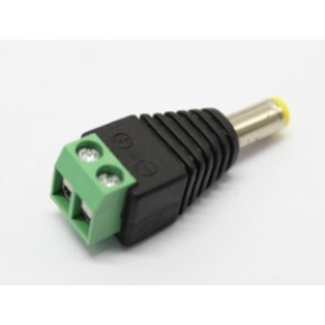 Power connector 5.5/2.1 male with screws