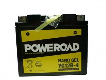 Akumulator za motor YG12B-4 GEL (12V 10Ah, 150 x 69 x 130)