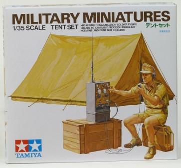 Nemški radijski operater in šotor