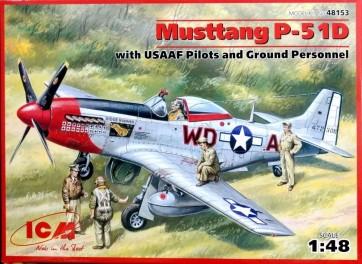 Mustang P-51D WWII Ameriški Lovec z USAAF Piloti in Servisnim osebjem