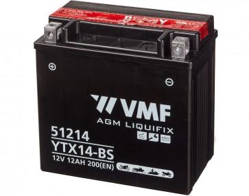 Moto akumulator YTX14-BS (12V 12Ah 151 x 87 x 146)