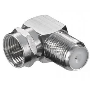 Kotni adapter za F-konektor (F ženski - f moški 90 stopinj)