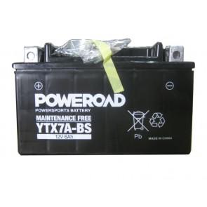Moto akumulator YTX7A-BS Poweroad (Brez vzdrževanja, 12V 6Ah 150 x 87 x 93)