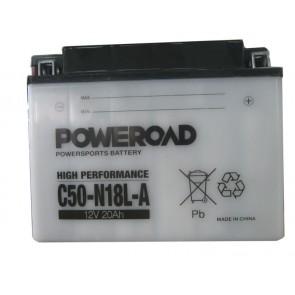 Akumulator za motor C50-N18L-A Poweroad (Standardni, 12V 20Ah 206 x 92 x 160)