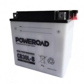 Akumulator za motor CB30L-B Poweroad (Standardni, 12V 30Ah 168 x 132 x 176)