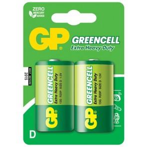 Greencell D GP baterija 13G (R20P) - 2 kosa