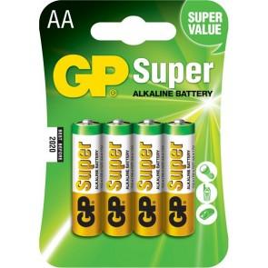 Super Alkalna AA GP baterija 15A (LR6) 4 kosi