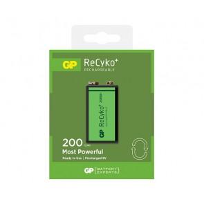 GP ReCyko+ 200 Series 200mAh 9V velikost