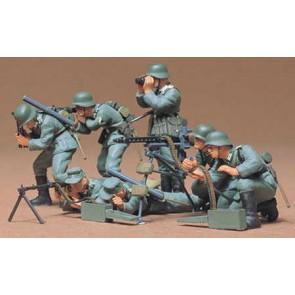 Set Nemških vojakov z mitraljezom