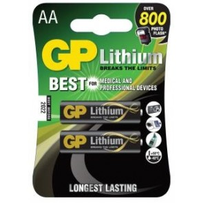 AA Litijeva baterija 1,5 V GP Lithium (2 kosa)