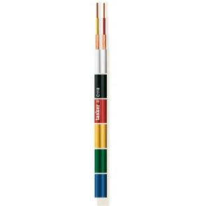 Ploščat profesionalen audio dvožilni oklopljen kabel za slušalke, studijsko rabo in samogradnjo, TASKER C118 rdeč