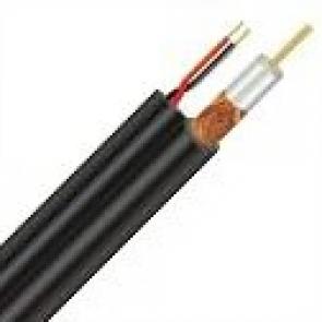 Oplaščen RG koaksialni kabel + 2 žili za napajanje(75R)