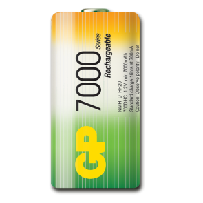 D 7000 mAh Ni-Mh polnilna GP baterija